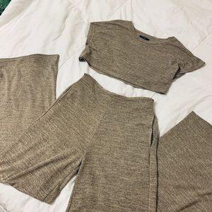 Crop Top + Pant Set